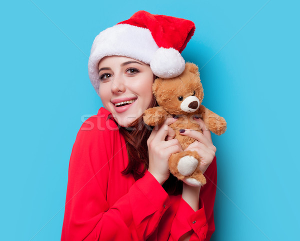 woman with teddy bear Stock photo © Massonforstock