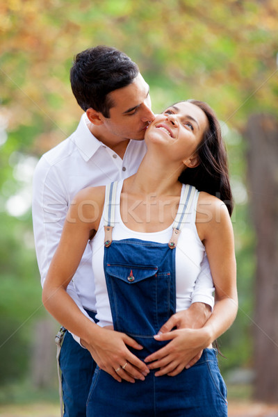 Foto cute Pareja maravilloso otono Foto stock © Massonforstock