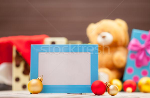 Photo frame Natale regali legno frame rosso Foto d'archivio © Massonforstock