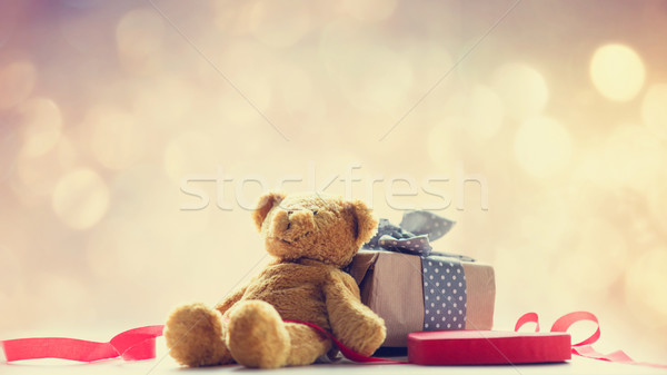 Cute teddybeer hart speelgoed Stockfoto © Massonforstock