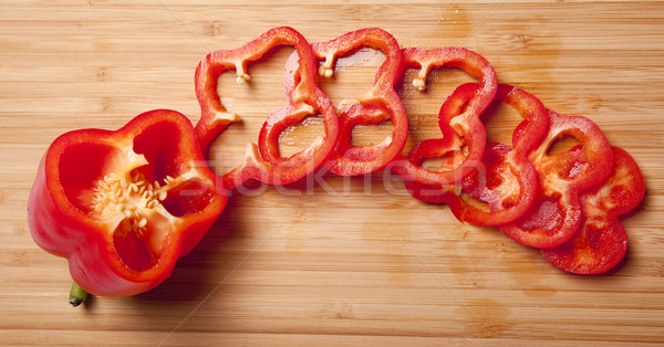 Bulgarian pepper on a table Stock photo © Massonforstock
