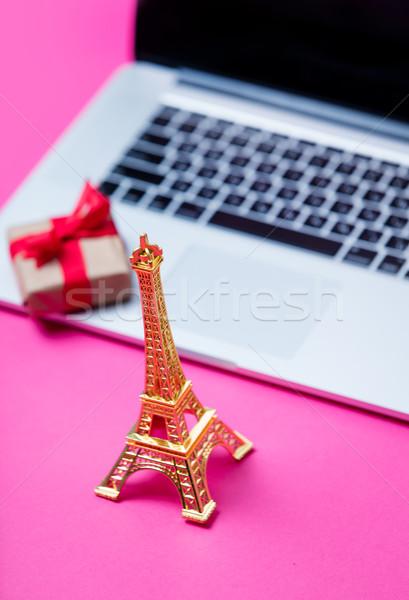 Belle Tour Eiffel jouet faible cadeau Photo stock © Massonforstock