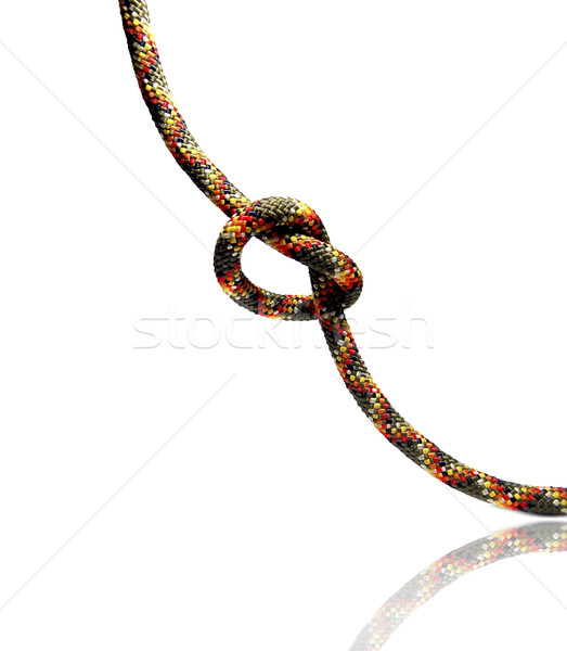 Close up shot of a rope with a knot Stock photo © Massonforstock