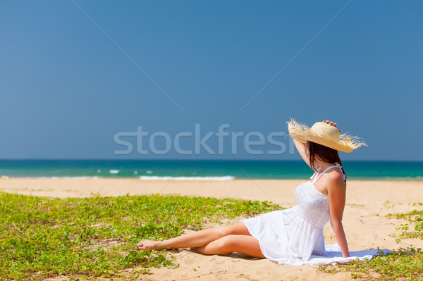 Stock photo: woman near the ocean