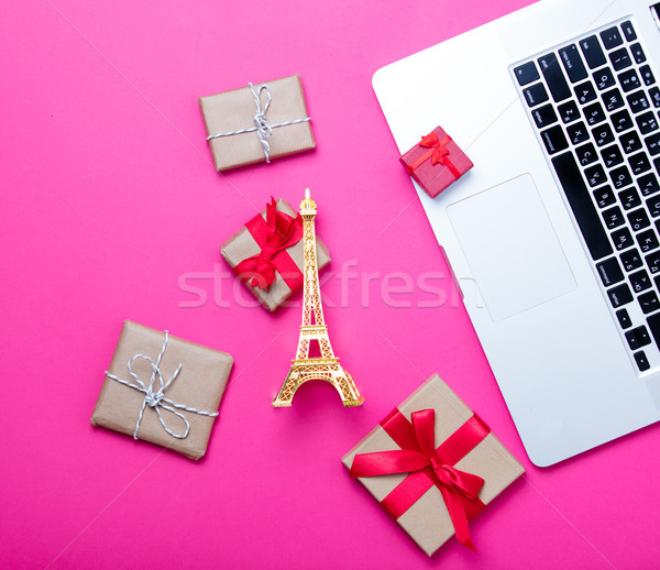 Belle Tour Eiffel jouet cute cadeaux Photo stock © Massonforstock