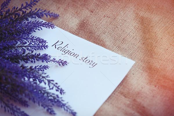 Papel palavras religião história flor espaço Foto stock © Massonforstock
