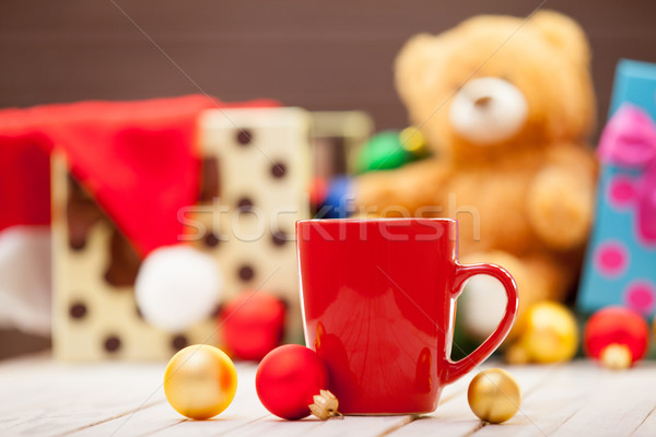 cup with baubles Stock photo © Massonforstock