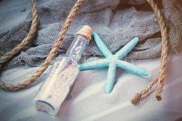 美しい お土産 ヒトデ ロープ クール 魚網 ストックフォト © Massonforstock