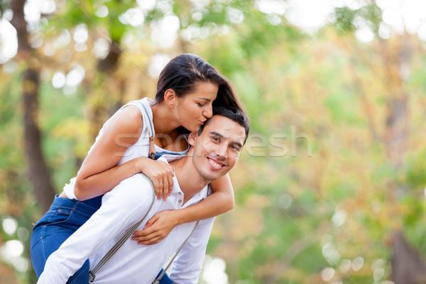 фото Cute пару целоваться замечательный Сток-фото © Massonforstock