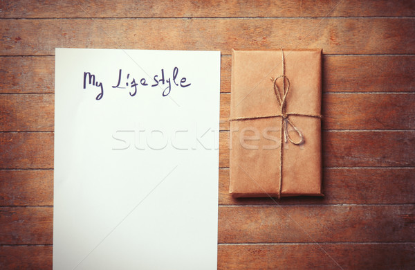 Papper with My lifestyle words and package  Stock photo © Massonforstock