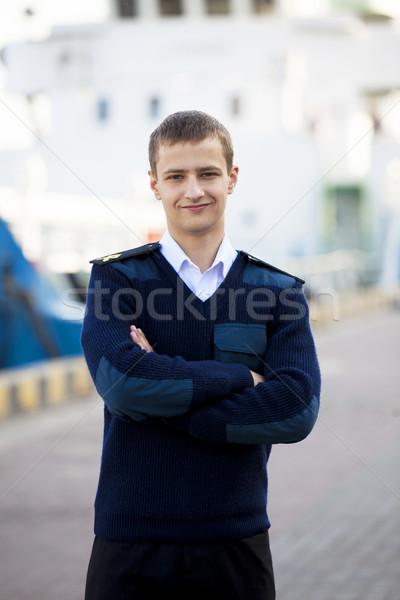 Barco viaje buque comunicación jóvenes ver Foto stock © Massonforstock