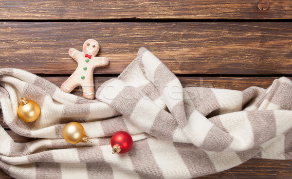 Gingerbread man and scarf  Stock photo © Massonforstock