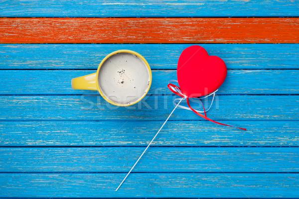 фото Кубок кофе сердце игрушку Сток-фото © Massonforstock