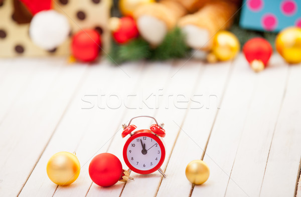 Alarm clock and baubles  Stock photo © Massonforstock