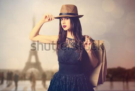 Stil kadın güneş gözlüğü eski fotoğraf makinesi Paris Stok fotoğraf © Massonforstock