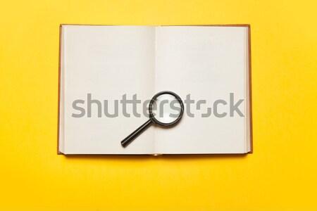 写真 ノートブック 虫眼鏡 素晴らしい カラフル ストックフォト © Massonforstock