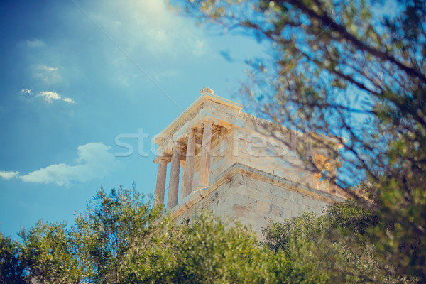 photo of beautiful ruins on the wonderful sky background in Gree Stock photo © Massonforstock
