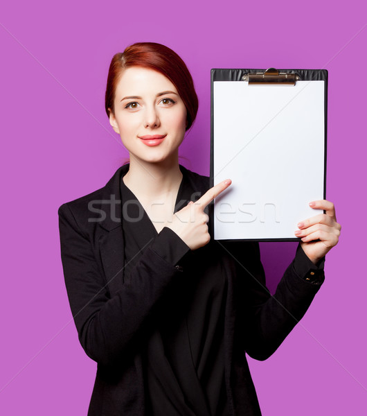 Hermosa portapapeles maravilloso púrpura trabajo Foto stock © Massonforstock