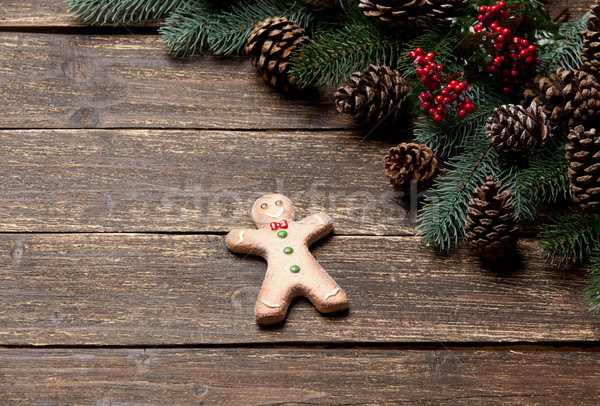 Photo homme Noël décorations se demander merveilleux Photo stock © Massonforstock