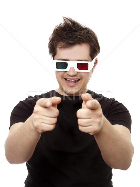 Mannen stereo bril show symbool Stockfoto © Massonforstock