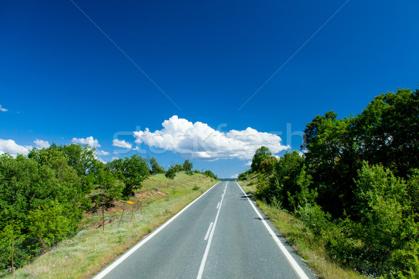 Stock photo: county side road in Greece