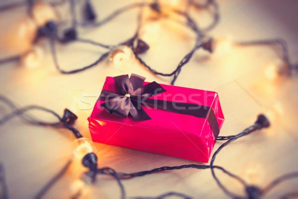 Christmas gift box  Stock photo © Massonforstock
