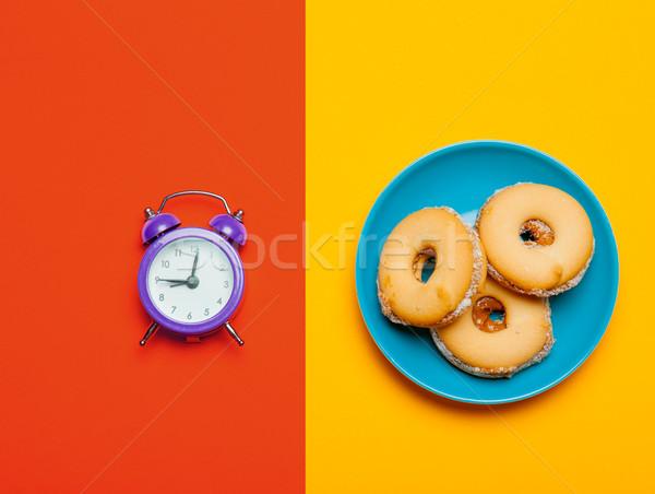 Fotó ébresztőóra sütik csodálatos színes pop art Stock fotó © Massonforstock