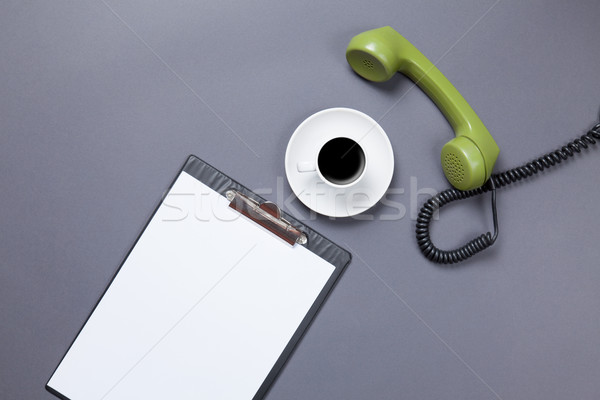 board and handset with coffee Stock photo © Massonforstock