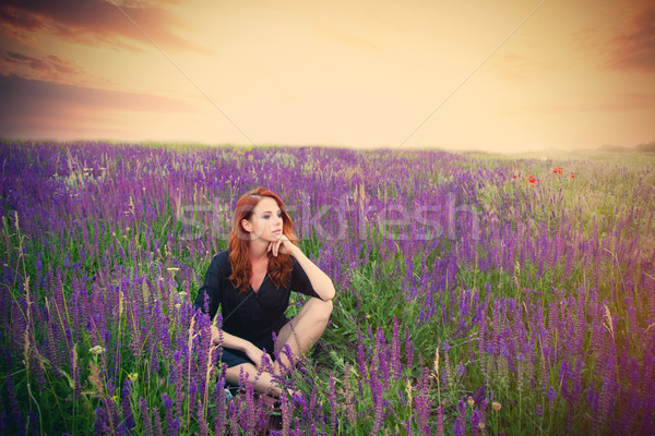 Hermosa sesión relajante maravilloso Foto stock © Massonforstock