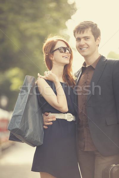Dwie osoby kobieta strony uśmiech szczęśliwy Zdjęcia stock © Massonforstock