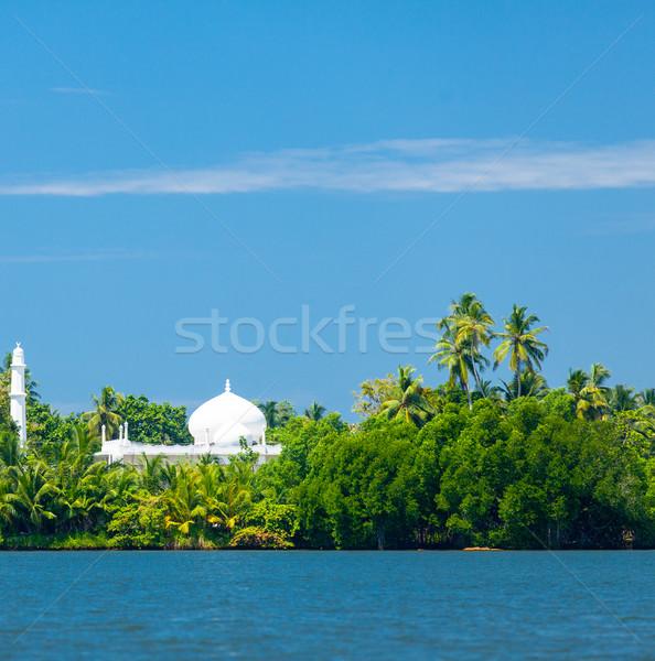 Mecset part trópusi sziget tengerpart tájkép tenger Stock fotó © Massonforstock