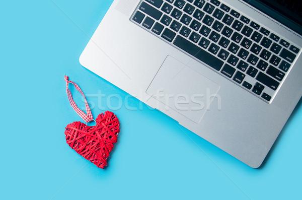 Hermosa corazón juguete portátil maravilloso Foto stock © Massonforstock