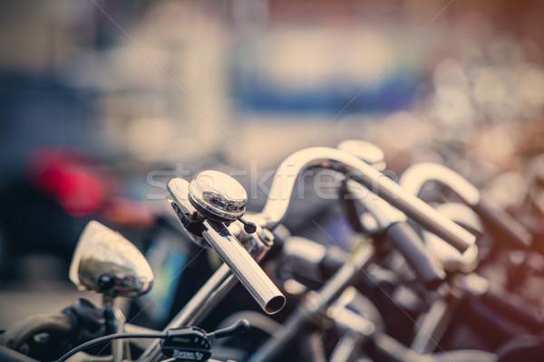 Fotó gyönyörű kilátás lánc hideg biciklik Stock fotó © Massonforstock