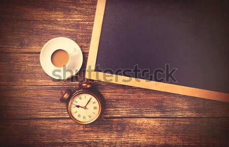 Beker koffie kerstman hoed prachtig bruin Stockfoto © Massonforstock