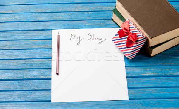 Foto papel meu história bonitinho dom Foto stock © Massonforstock