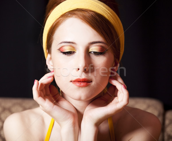 Redhead girl. 70s Stock photo © Massonforstock