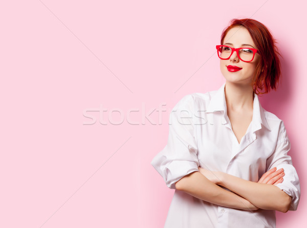 Foto hermosa pie maravilloso rosa Foto stock © Massonforstock