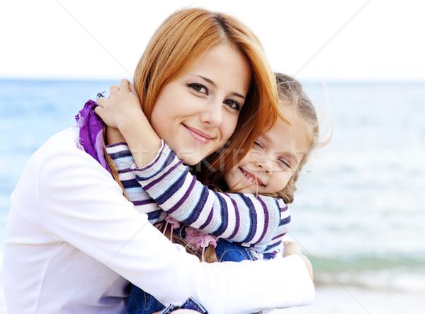 Dwa siostry 22 rok starych plaży Zdjęcia stock © Massonforstock