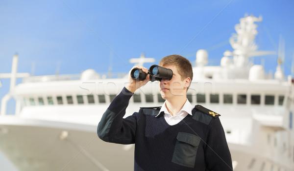 boatswain near the boat Stock photo © Massonforstock