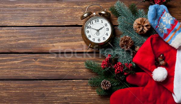 Alarm clock and Christmas stuff  Stock photo © Massonforstock
