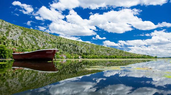 морем лес Греция фото красивой природы Сток-фото © Massonforstock
