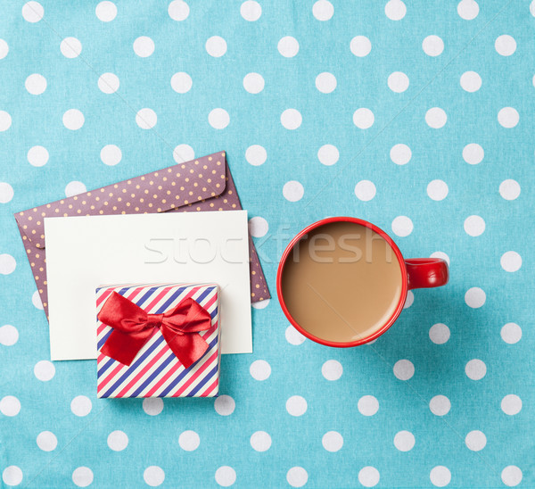 Cup of coffee and envelope  Stock photo © Massonforstock