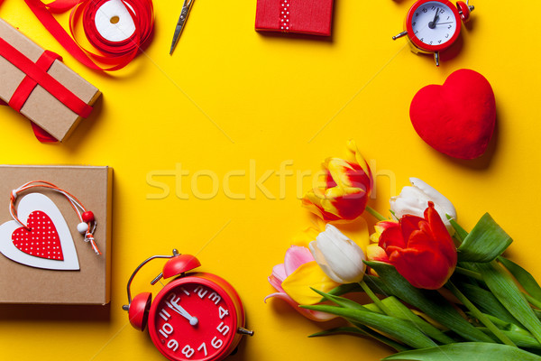 Beautiful bouquet of tulips and others  Stock photo © Massonforstock