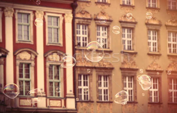 фото красивой старые Vintage зданий Польша Сток-фото © Massonforstock