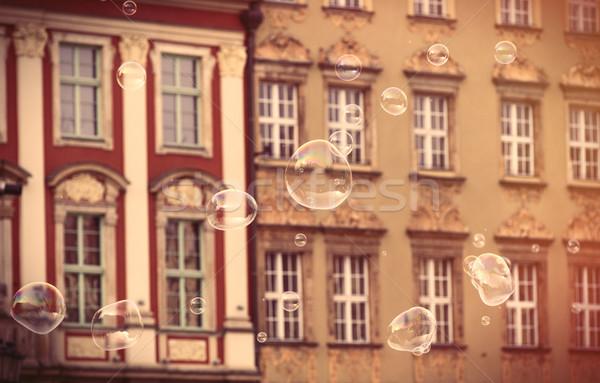 Foto hermosa edad vintage edificios Polonia Foto stock © Massonforstock