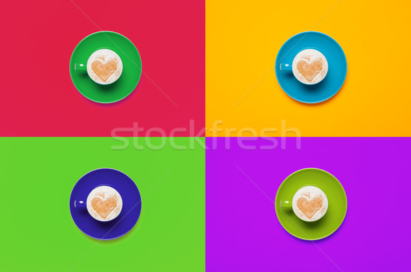 photo of cup of coffee on the wonderful colorful background in p Stock photo © Massonforstock