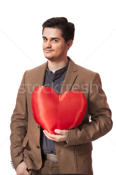 Portrait of a young man with heart shape  Stock photo © Massonforstock