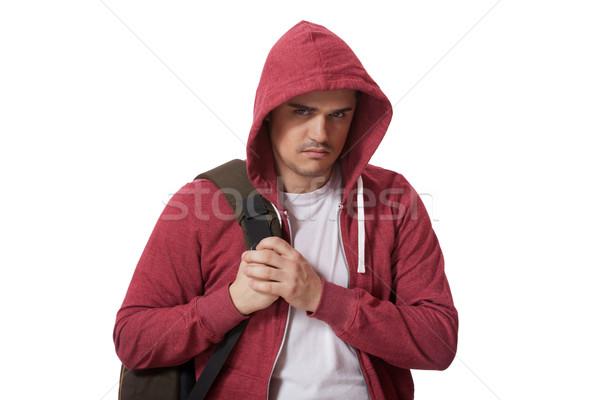 Jonge triest geïsoleerd witte kind Stockfoto © Massonforstock
