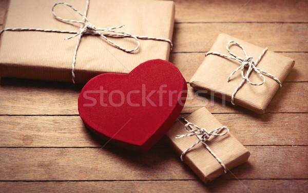 Geschenke Spielzeug schönen Herz wunderbar Stock foto © Massonforstock