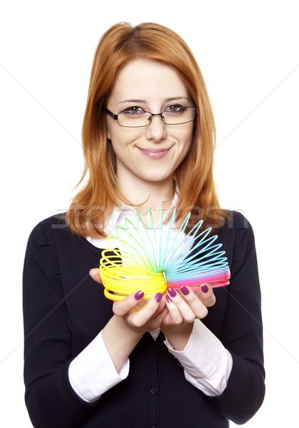 Foto stock: Negocios · mujeres · color · primavera · nina · trabajo
